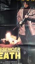 Vintage 1988 Cinema Film Poster Chrles Bronson Messenger of Death,  100 ... - $106.92