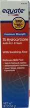 Equate Maximum Strength 1% Hydrocortisone Anti-Itch Cream, 2 oz