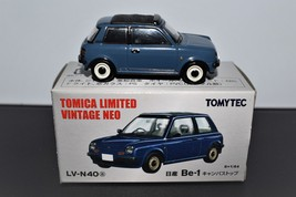 TOMICA LIMITED VINTAGE NEO LV-N40a NISSAN Be-1 Canvas Top Blue - $18.00
