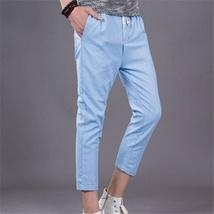The new summer mens pants men loose linen pants casual pants image 5