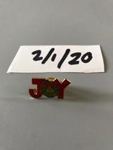 Vintage Joy Christmas Wreath Pin - $9.89