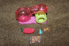 Littlest Pet Shop Hamster Feeding Lot Play Set playground w accessories - $17.33