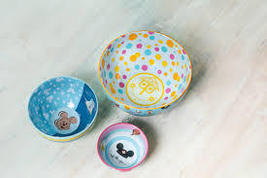 "Disney Parks 2021 Jerrod Maruyama ""Kingdom Of Cute"" Nesting Bowl Set - $49.95"