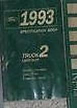1993 Ford F150 F250 Super Duty Econoline Bronco Truck Spezifikationen Ma... - $39.59