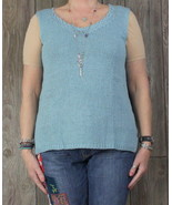 J Jill New 1x size Tank Sweater Top Wedgwood Blue Career Casual Plus Wom... - $25.99