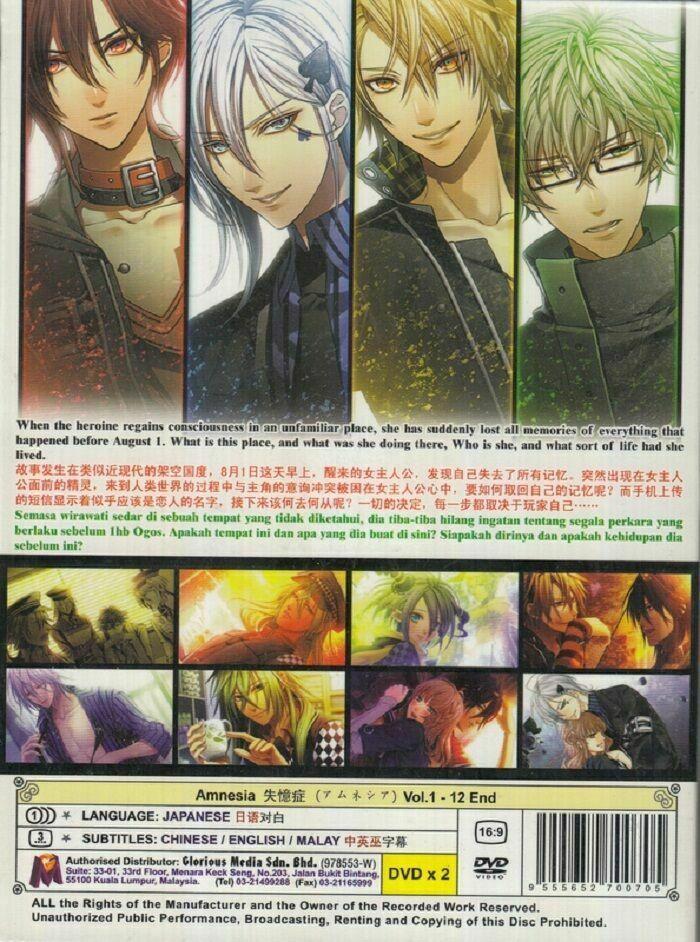 Amnesia (TV 1 - 12 End) English Subtitles DVD Anime All Box Set Ship From USA