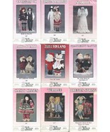 Lot of 9 Different Pear Blossom Doll Patterns Saloon Hall Sunday Angel C... - $29.99