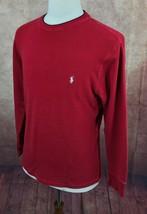 Polo Ralph Lauren Crewneck Pullover Red Thermal Sleepwear Shirt Men's L - $15.71