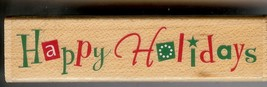 Hero Arts Rubber Stamp New C-3140 Playful, Holiday Message S6 - $6.89