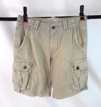 American Eagle Outfitters Khaki Cotton Cargo Utility Shorts Classic Leng... - $19.79