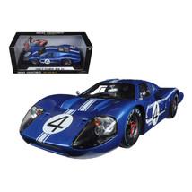 1967 Ford GT MK IV #4 Blue Le Mans 24 Hours L.Ruby / D.Hulme 1/18 Diecas... - $81.46