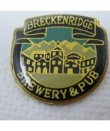 Vintage Acrylic Metal Colorado Breckenridge Brewery and Pub Shield Pin B... - $11.35