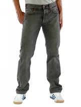 NEW LEVI'S 501 MEN'S ORIGINAL STRAIGHT LEG JEANS BUTTON FLY GRAY 501-6275 image 2