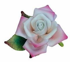 Lefton Pink Rose figurine flower decor gift sculpture 1995 vtg 10701 lea... - $39.55