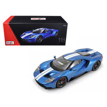 2017 Ford GT Blue Exclusive Edition 1/18 Diecast Model Car by Maisto 381... - $63.48