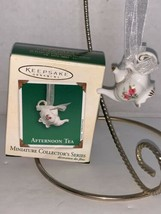 Hallmark Keepsake Ornament Miniature Afternoon Tea Porcelain 2003 - $7.50