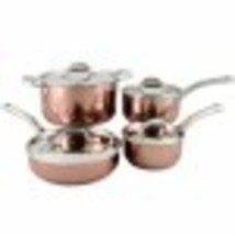 OSTER BROOKFIELD 8 PIECE COOKWARE SET IN COPPER - $95.00