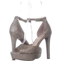 Jessica Simpson Amella Wedge Sandals 886, Shimmer Silver, 8.5 US / 38.5 EU - $27.83