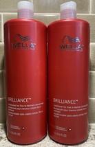 2 Wella Professionals 33.8 Oz Brilliance Fine To Normal Colored Hair Conditioner - $29.45