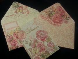 1 Punch Studio gold emboss blank DREAM card-butterfly/roses-wow Envelope! - $3.60