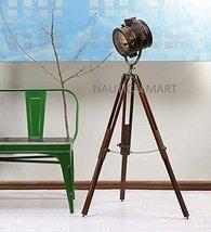 NAUTICALMART BROWN ANTIQUE FLOOR STANDING WOODEN TRIPOD FLOOR LAMP - $146.02
