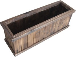 27.95-in x 9.84-in Carbonize Wood Window Box - ₹4,599.33 INR