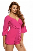 Pink jumper romper Medium nwot new - $12.19