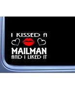 """Mailman Kissed L951 8"""" us mail window decal sticker - $6.67"""