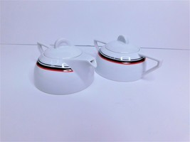 White Cream And Sugar Set By Studio Nova Vintage Japan - $18.69
