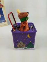 2005 Hallmark Pop Goes the Reindeer 3rd Jack-in-the-Box  Ornament Purple image 3