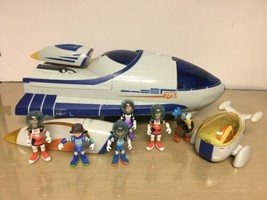 Miles From Tomorrowland - Stellospere Ship w/6 Action Figures -overall EX - $24.75