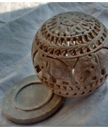 candle tea light holder oil lamp ball cup gift home decor elephant carved - $18.81
