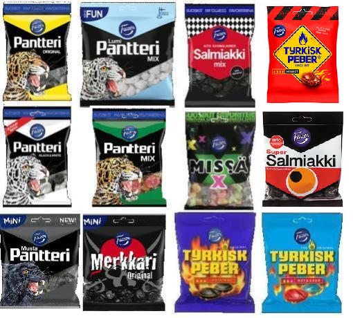 Primary image for FAZER SALMIAKKI 12 BAGS MIX *SUPERFAST TRACKED SHIPPING*