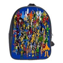 Backpack School Bag All Cartoon Marvel Heroes Comic Books Game Animation  - $33.00