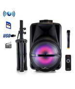 beFree Sound 12 Inch Bluetooth Rechargeable Portable PA Party Speaker wi... - $108.42