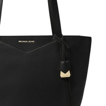Michael Kors Whitney Medium Black Leather Tote NWT image 2