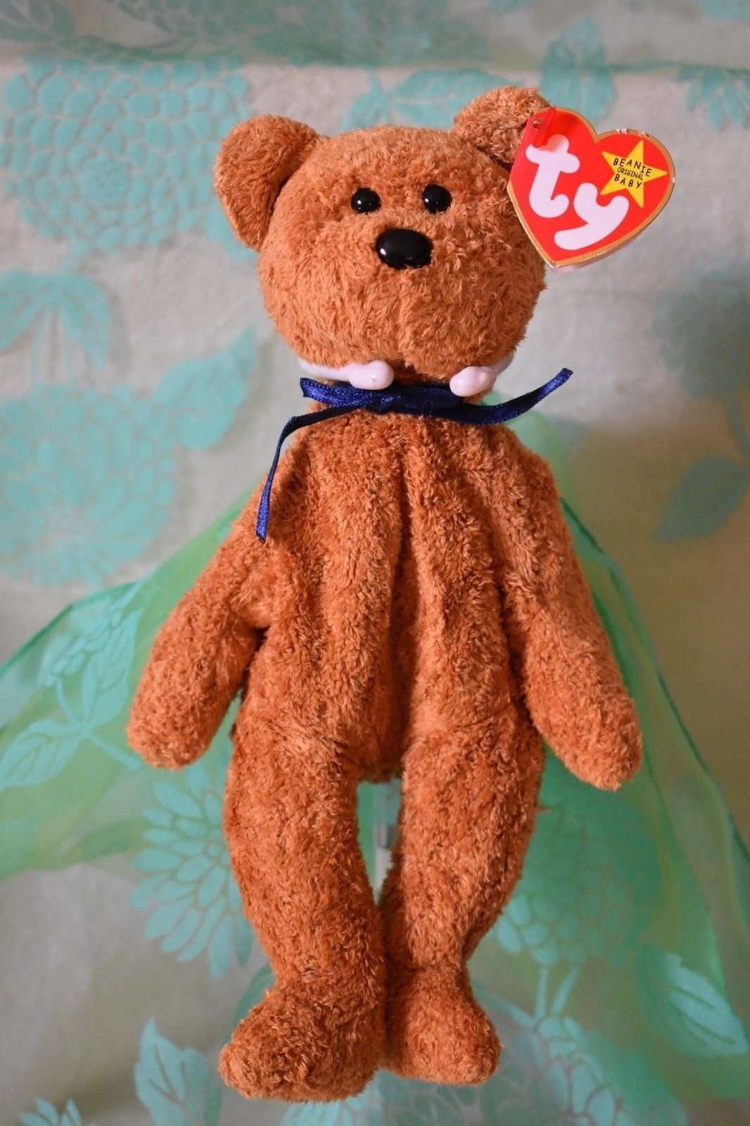 d419c9d4228  15 Vintage Fuzz 1998 Bear TY Beanie Babies has tag stuffed collectible toy