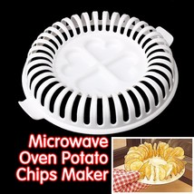 High Quality DIY Low Calories Microwave Oven Fat Free Potato Chips Maker... - $16.00