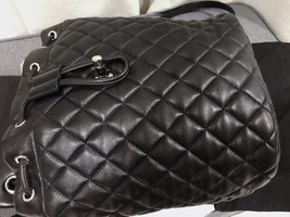 100% AUTHENTIC CHANEL 2017 BLACK QUILTED LAMBSKIN URBAN SPIRIT BACKPACK SHW image 9