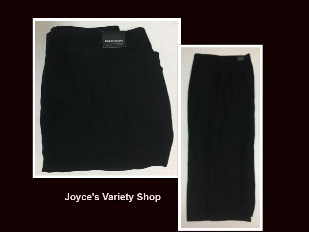 Madison black linen pants womens 16 collage