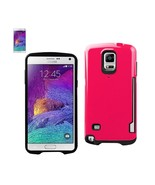 REIKO SAMSUNG GALAXY NOTE 4 CANDY SHIELD CASE WITH CARD HOLDER IN HOT PI... - $10.55