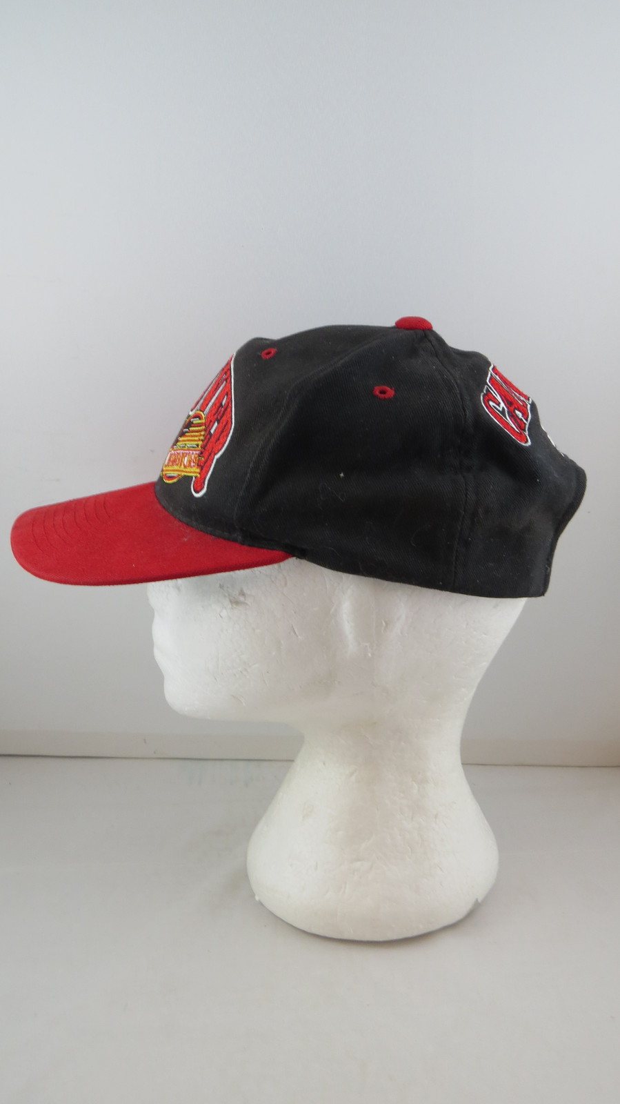 Vancouver Canucks Hat (VTG) - Double Arch Script By Starter - Adult Snapback