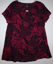 Gap NWT Women's L Drapey Viscose Floral Blouse Tunic Top w/ Tulip Hem in... - $41.03