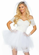 Leg Avenue Blushing Bride Tiffany Wedding Dress Adult Halloween Costume ... - $42.52