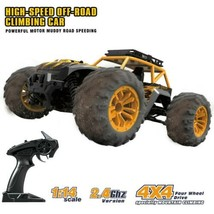 4WD RC Monster Truck Off-Road Vehicle 2.4G Remote Control Crawler Car High Speed - $87.52