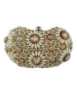 Sondra Roberts Sophisticated Crochet Jewel Beaded Rich Bronze Evening Cl... - $49.90
