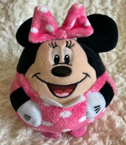 Primary image for Ty Minnie Mouse Pink White Polka Dots Beanie Ball Fleece Stuffed Animal Toy