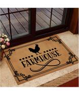 Chicken Farmhouse Doormat, Summer Animal Lover Decor Door Mat, Home Mat ... - $29.65+