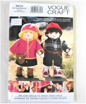 Vogue Craft Pattern 8926 Learning Doll Teach Skills Uncut Factory Fold B... - $14.35