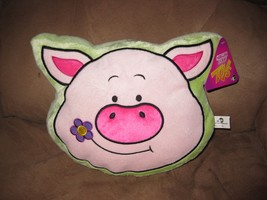 "Green Pig Face Pillow Brand New Plush Nwt With Tags 12"" Sugar Loaf - $9.99"